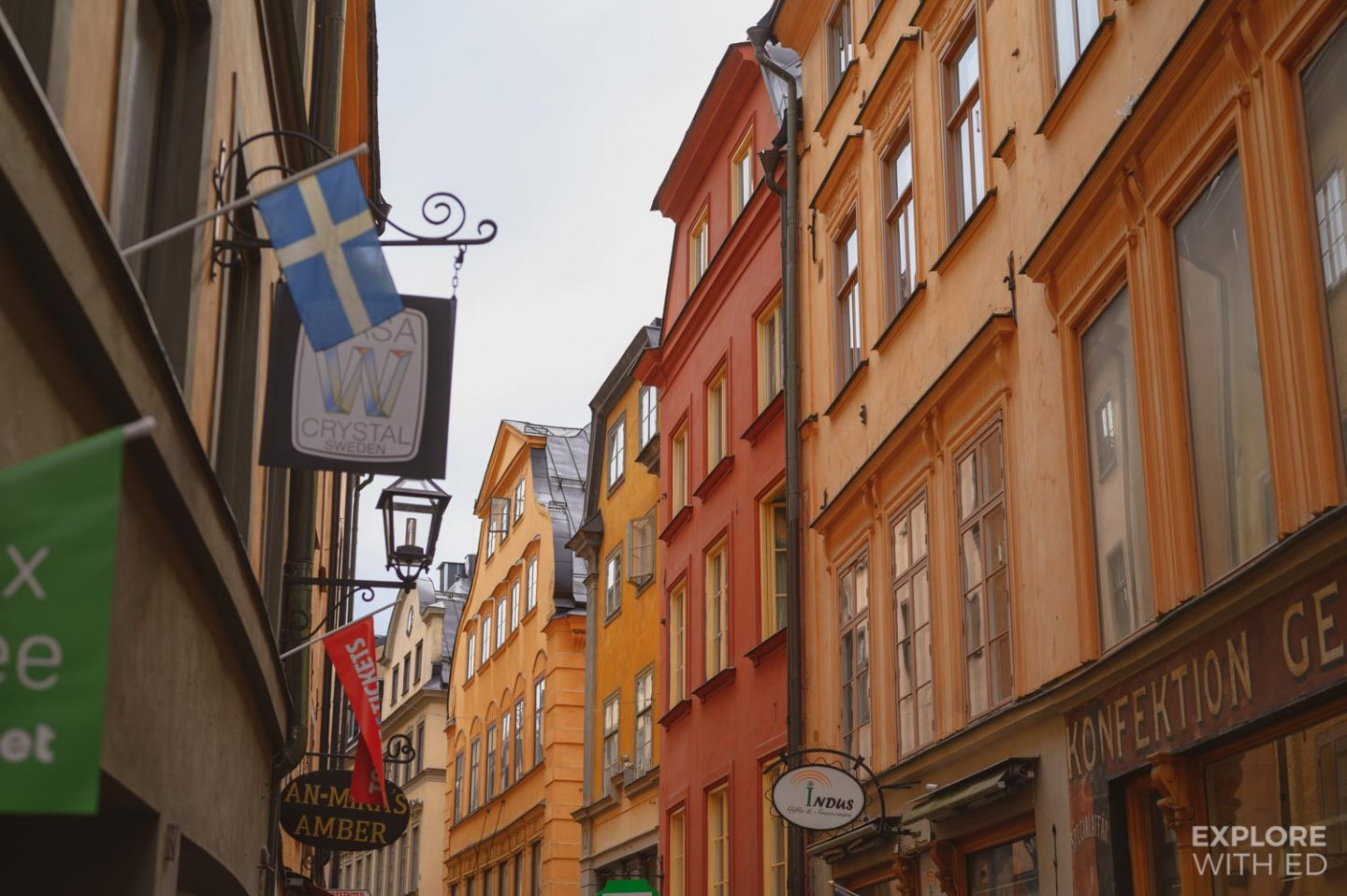 Shops in Gamla Stan, Stockholm Old Town