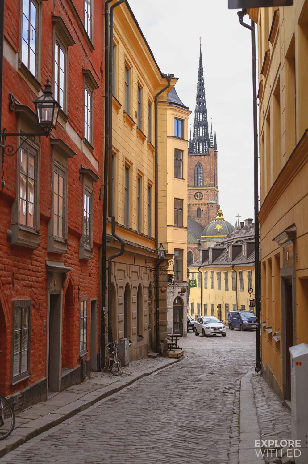 The colourful side streets in Stockholm's Old Town