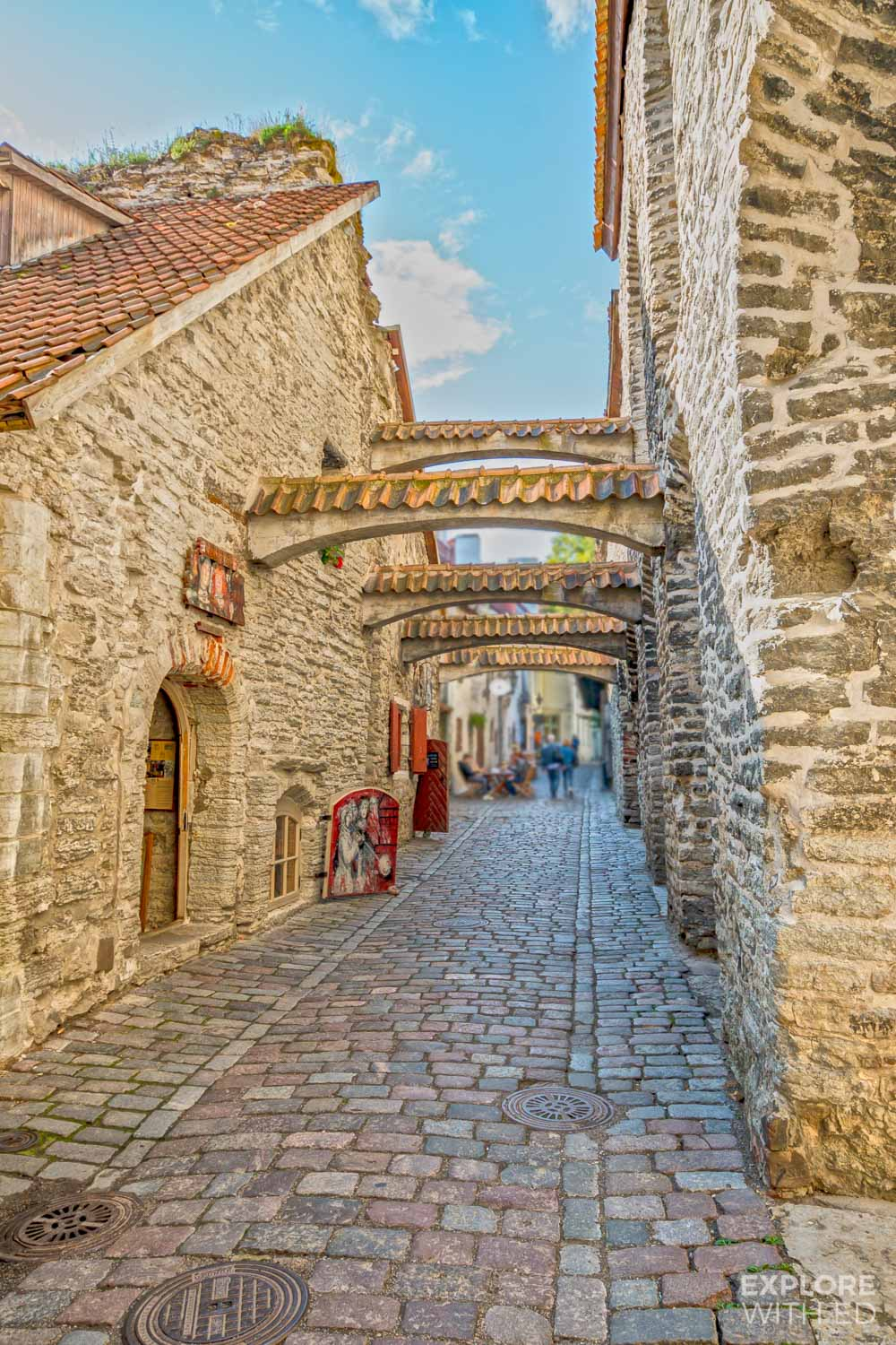 St. Catherine's Passage in Tallinn, one of the best preserved places in Tallinn for photography lovers