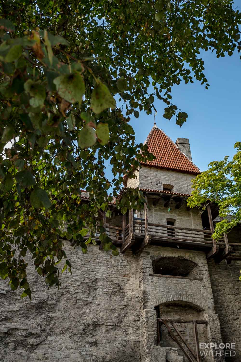 Stable Tower and Walkway in Tallinn