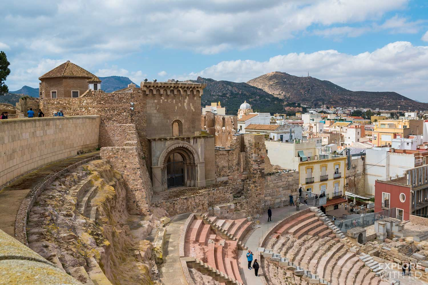 Roman ruins in Cartagena, Spain