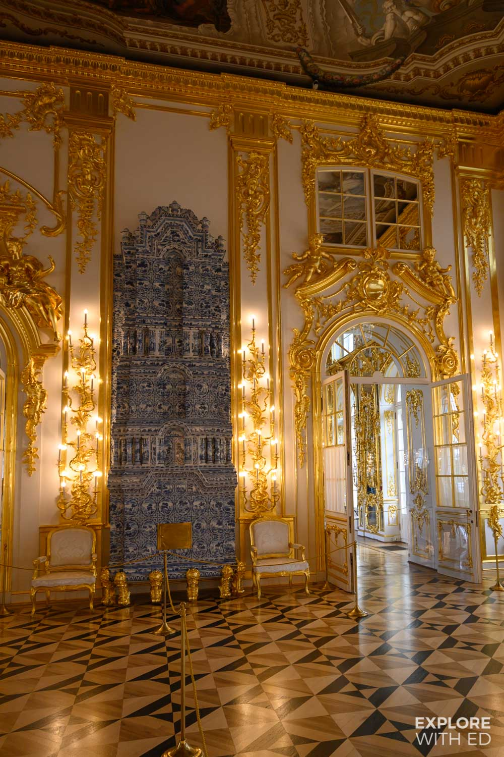 Inside tour of Catherine Palace