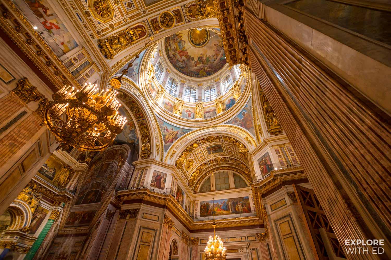 Inside St Isaacs Museum, Saint Petersburg