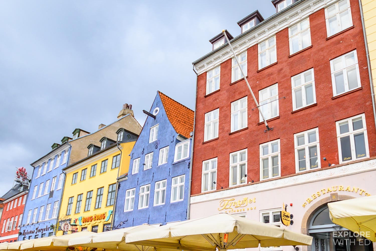 Cafes and restaurants in Nyhavn Harbour