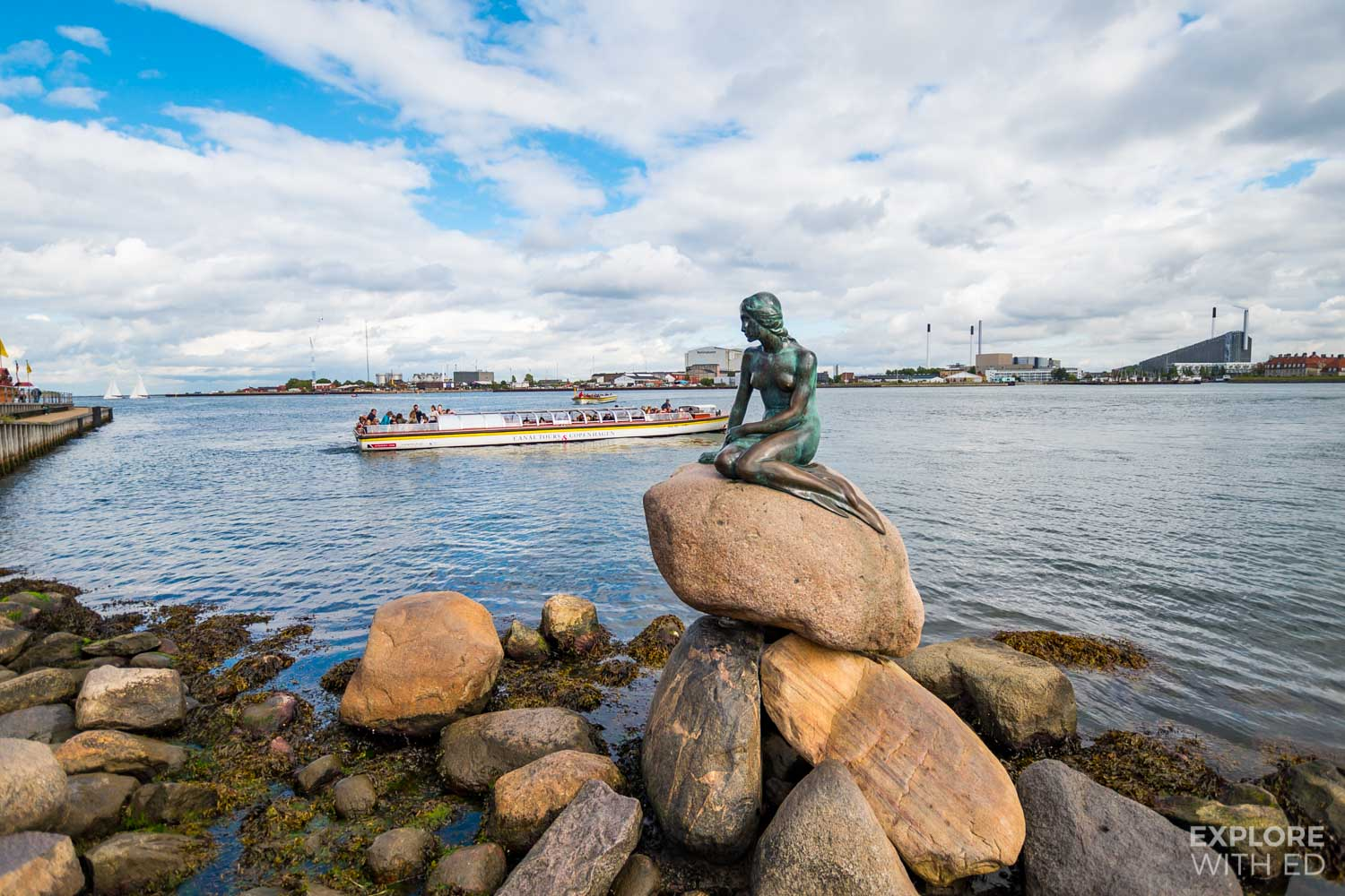 Visiting Copenhagen on a cruise with a canal tour