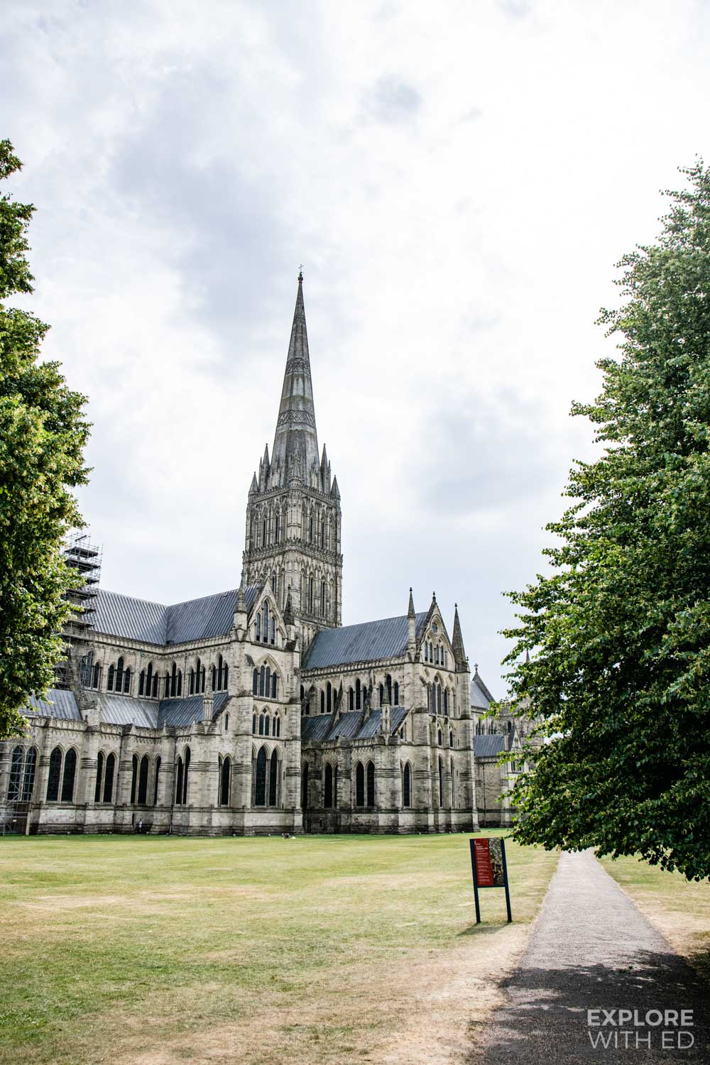 Salisbury Cathedral in Wiltshire has the tallest spire in the UK