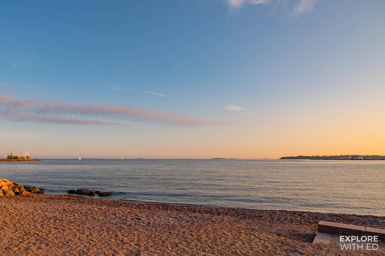 Sandy beach in Helsinki