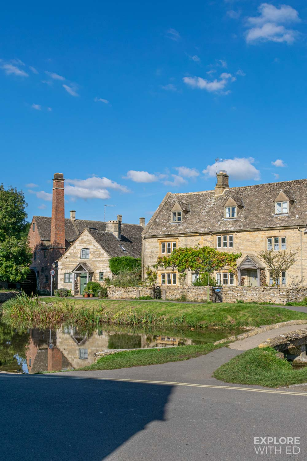 Lower Slaughter and the Old Mill with a gift and craft shop