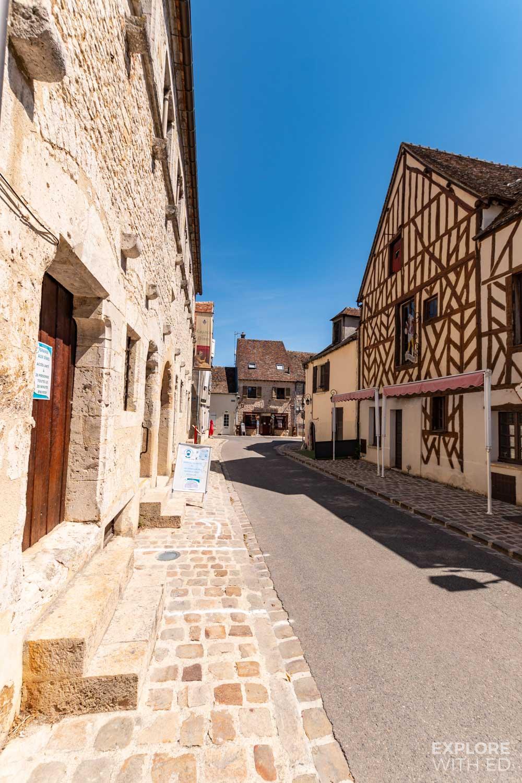 Pretty street in Provins, France